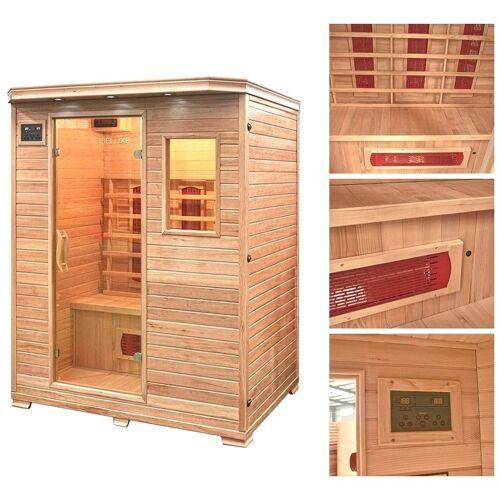 HOME DELUXE Infrarotkabine »Redsun L«, 153/110/190 cm, 40 mm, für bis zu 3 Personen, natur
