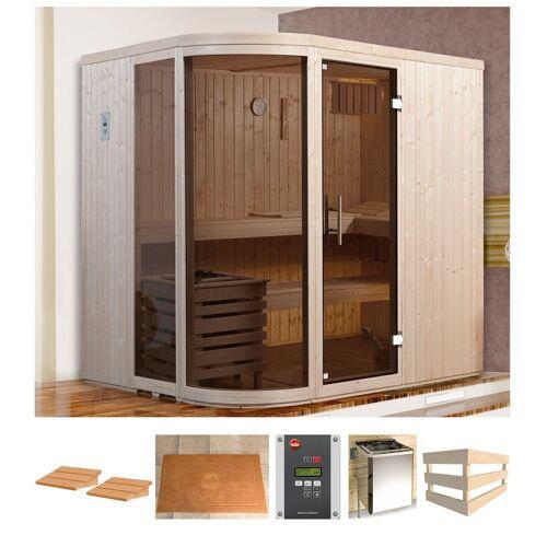 weka Sauna »Sara 1«, BxTxH: 194 x 194 x 199 cm, 68 mm, 7,5 kW Ofen mit ext. Steuerung