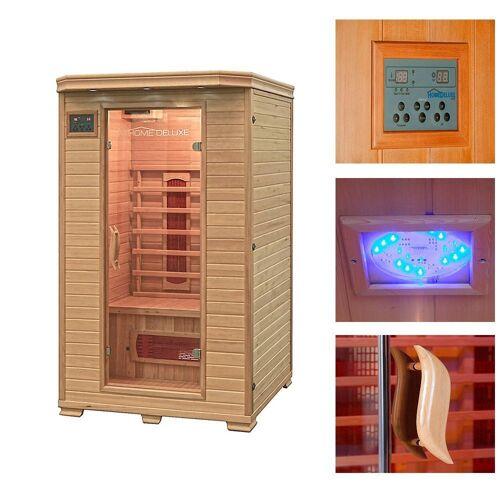 HOME DELUXE Infrarotkabine »Redsun M«, 120/105/190 cm, 40 mm, für bis zu 2 Personen, natur