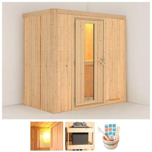 KONIFERA Sauna »Willa«, BxTxH: 196 x 118 x 198 cm, 68 mm, ohne Ofen
