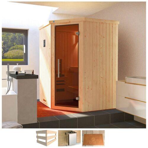 weka Sauna »Kiruna«, BxTxH: 144 x 144 x 199 cm, 68 mm, 3,6 kW Bio-Ofen mit ext. Steuerung