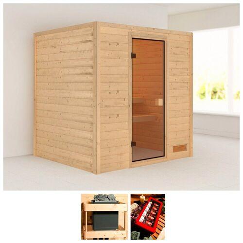 Karibu Sauna »Anja«, 196x170x200 cm, ohne Ofen, natur