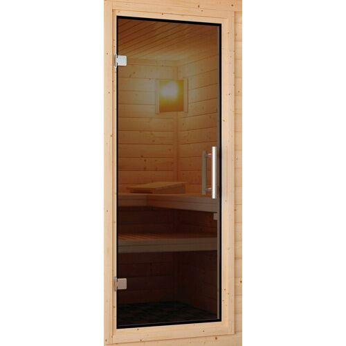 Karibu Saunatür für 38/40 mm Sauna, BxH: 64x173 cm, grau