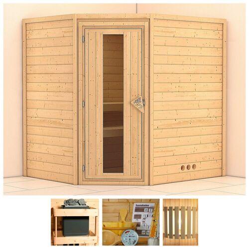 KONIFERA Sauna »Meyk«, BxTxH: 196 x 170 x 198 cm, 38 mm, ohne Ofen
