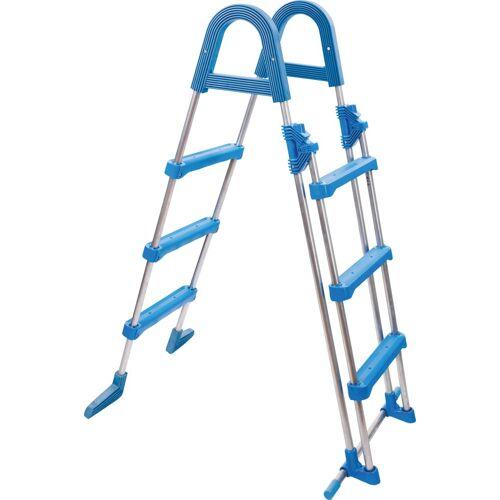 MyPool Pool-Leiter aus Edelstahl, BxLxH: 50x80x125 cm, blau