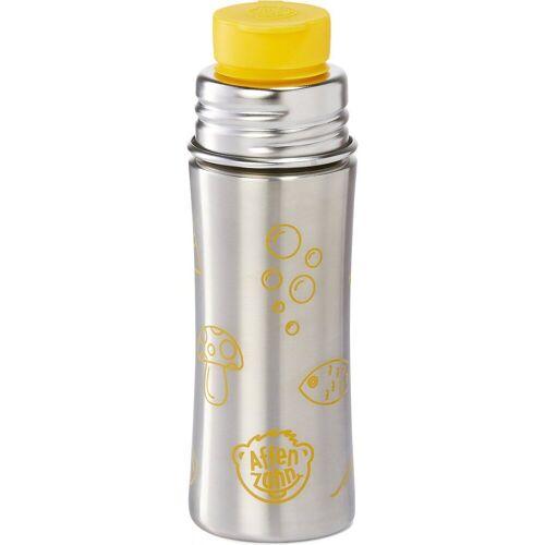Affenzahn Trinkflasche »Edelstahl Trinkflasche Lila, 330 ml«, gelb