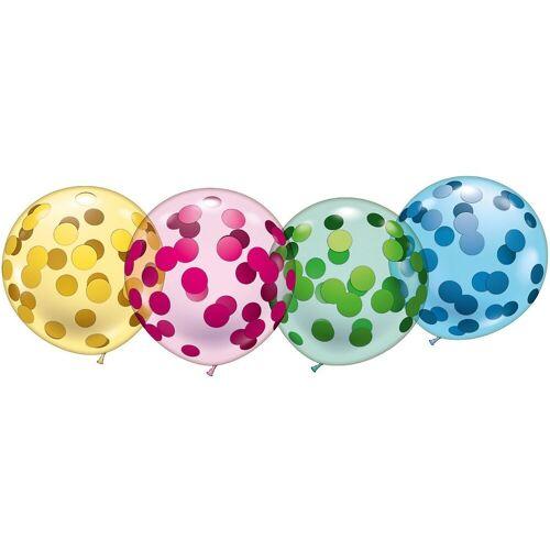 """Karaloon Luftballon »4 Riesen-Kristallballons """"Konfetti""""«"""