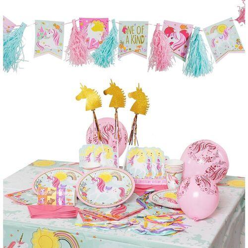 Amscan Kindergeschirr-Set »Partyset Magical Unicorn, 58-tlg.«