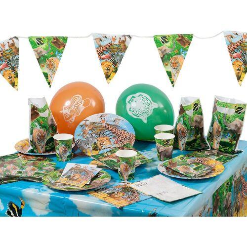 Folat Kindergeschirr-Set »Partyset Safari Party«