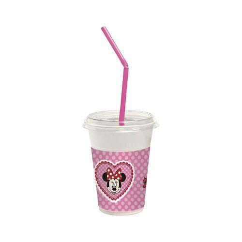 Procos Becher »Generic 12 Milchshakebecher (12 Becher, 12 Deckel,«, rosa