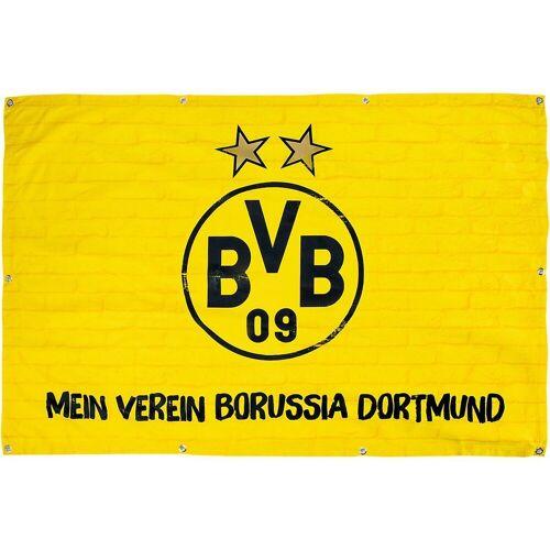 Borussia Dortmund Fahne »Balkonfahne BVB, Mein Verein ,«