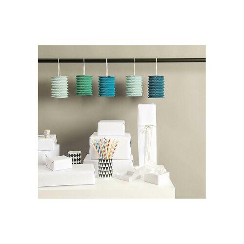 Rico-Design Verlag Laterne »Papierzuglaternen Aqua, 5 Stück«