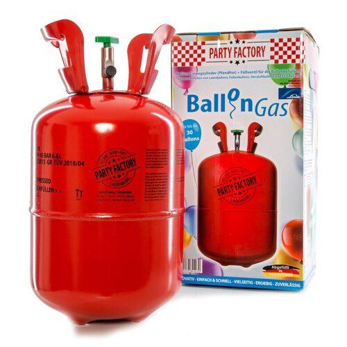 Party Factory Luftballon »Ballongas / Heliumgas, 250 Liter«, Helium Gas, Einwegflasche, Pfandfrei, inkl. Abfüllhilfe