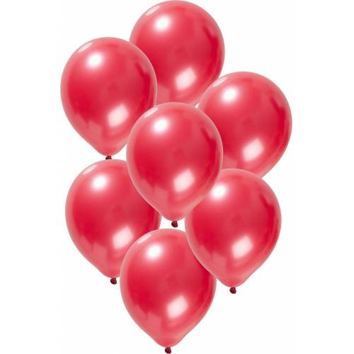 Folat Luftballon »Luftballons metallic rot 30 cm, 50 Stück«, rot
