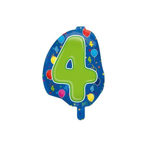 Folat Folienballon Zahl 4