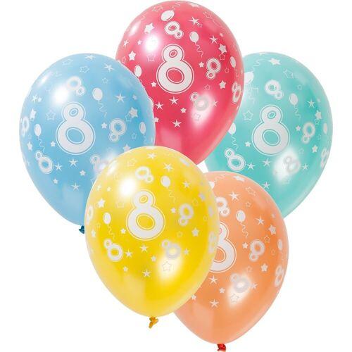 Folat Zahlenluftballon 8, 5 Stück