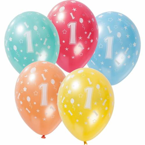 Folat Zahlenluftballon 1, 5 Stück