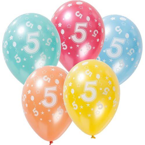 Folat Zahlenluftballon 5, 5 Stück