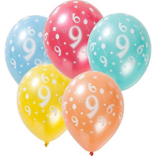 Folat Zahlenluftballon 9, 5 Stück