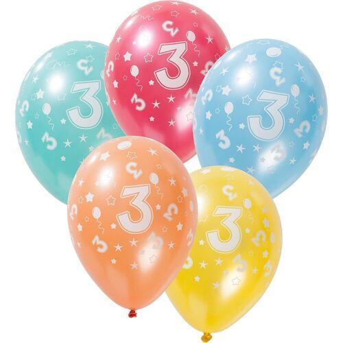 Folat Zahlenluftballon 3, 5 Stück