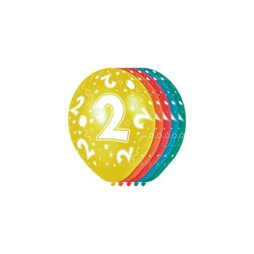 Folat Zahlenluftballon 2, 5 Stück