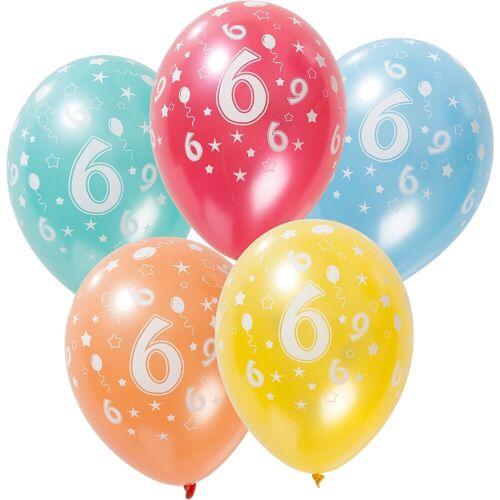 Folat Zahlenluftballon 6, 5 Stück