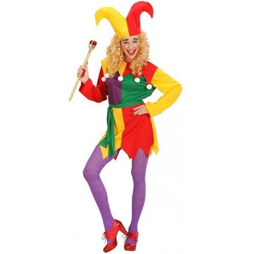 Witziges Hofnarr Kostüm für Damen, bunt