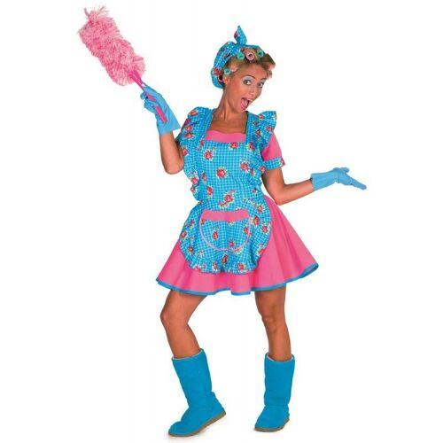Gretchen Putzfrau Kostüm für Damen, blau-pink
