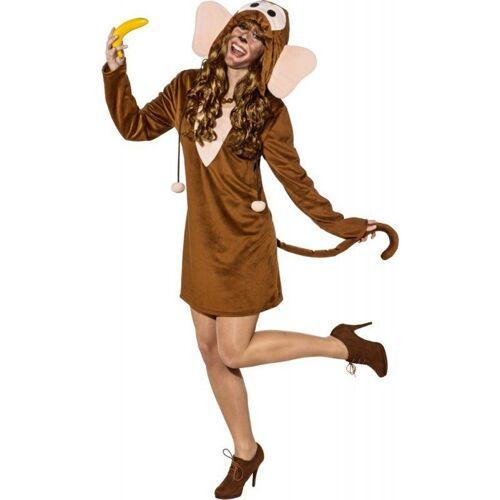 Lustiges Affen Kleid für Damen, braun