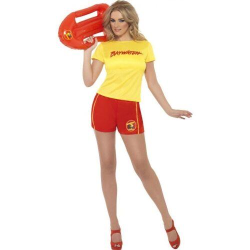 Baywatch Kostüm für Damen, gelb-rot