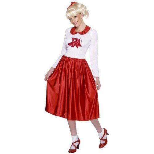 Sandy Grease Tanzkleid Kostüm - M, rot-weiß
