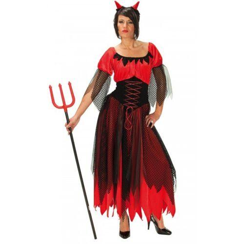 Teufelin Dämonin Kostüm, rot-schwarz