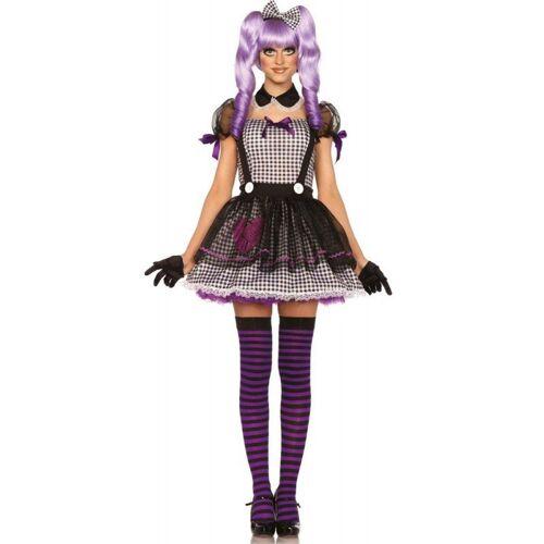 Dolly Doll Puppen Kostüm für Damen, schwarz-weiß