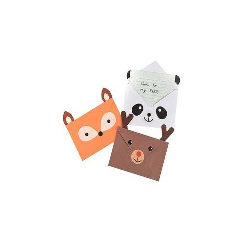MAGS Geburtstagskarte »Einladungskarten Tiere, 8 Stück inkl. Umschläge«