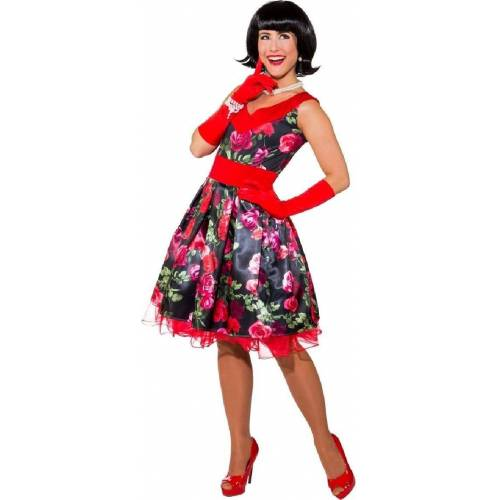 Orlob Kostüm »50er Jahre Rockabilly Rosen Kostüm für Damen«