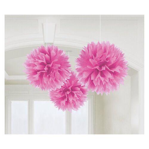 Amscan Pompon »18055-90-55 Pompoms/Dekobälle bunt, 3 Stück«, pink