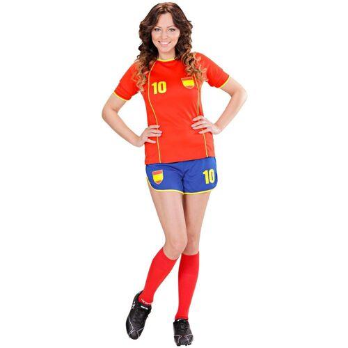 Widmann Kostüm »Fußballerin Fan-Girl Spanien Set«