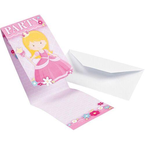 Amscan Geburtstagskarte, rosa/weiß