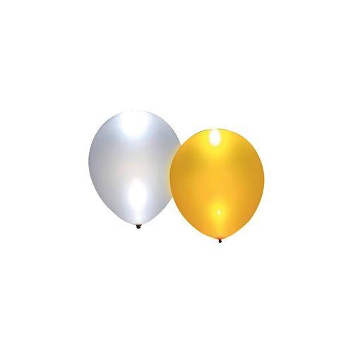 Happy People LED Luftballons gold/silber, 5 Stück