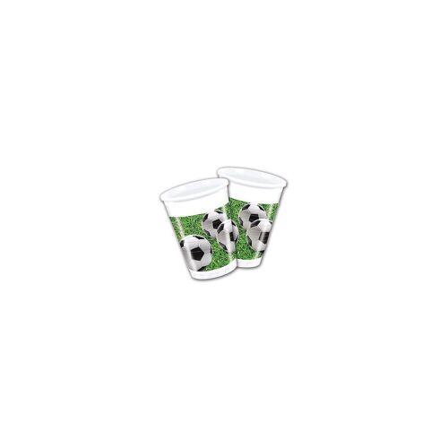 Procos Partybecher Fußball Party 200 ml, 8 Stück