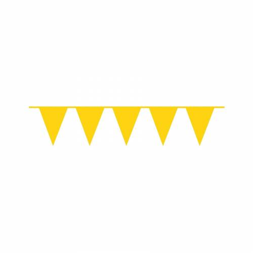 Amscan Wimpelkette plastik 10 m gelb