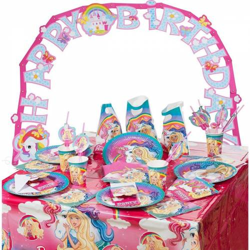 Amscan Kindergeschirr-Set »Partyset Barbie Dreamtopia, 62-tlg.«