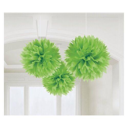 Amscan Pompon »18055-90-55 Pompoms/Dekobälle bunt, 3 Stück«, grün