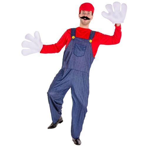 tectake Kostüm »Herrenkostüm super Klempner Mario«