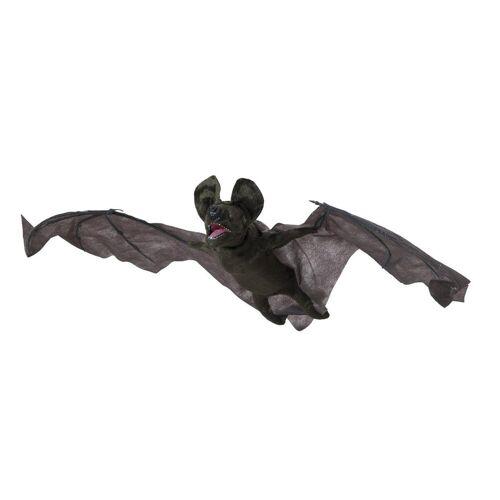 EUROPALMS Tierfigur »Animierte Fledermaus - 90cm Halloween Figur zum Hängen - bewegt Kopf und Flügel - rote Blinkaugen«