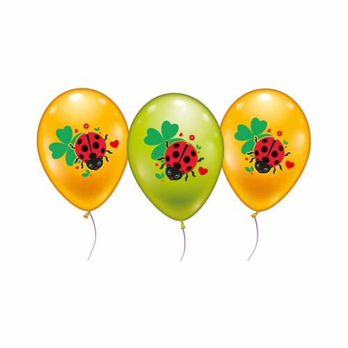 Karaloon 18 Ballons Glückskäfer