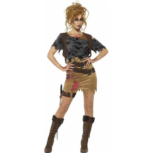 Smiffys Kostüm »Ramona Zombie Jägerin Damenkostüm«