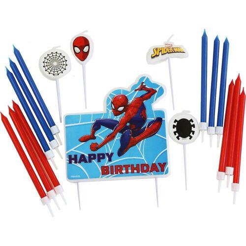 Amscan Formkerze »Geburtstagskerzen Spider-Man, 17 Stück«