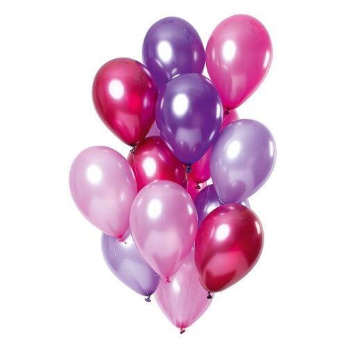 Folat Luftballon »Luftballons Lilamix 30 cm, 15 Stück«, lila