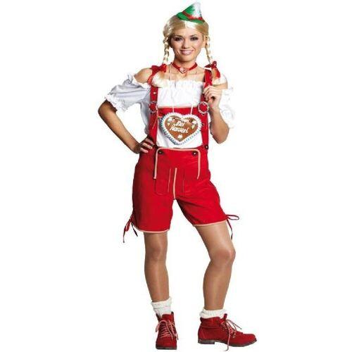 Rubie´s Kostüm »Franzi Trachtenhose Lederhose rot«